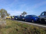 Hromadná nehoda u Vrančic komplikuje cestu na Písek
