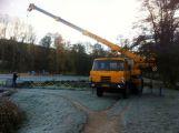 Nový rybník se už nyní připravuje na další sezónu