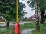 Příbramsko přes noc zasáhly vytrvalé deště, Litavka v Čenkově hlásí první stupeň