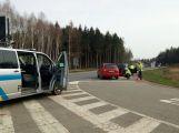 Fabie na křižovatce narazila do VW Passat