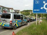 Nehoda u Obory komplikuje dopravu v okolí