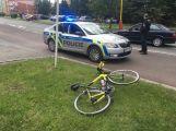 Střet osobního vozu a cyklisty se neobešel bez zranění