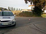 Dva vozy se srazily v Sedlčanech