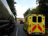 Kamion havaroval na Vesteckém mostě