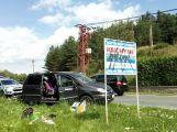 V Dalekých Dušníkách se srazila dodávka s osobním vozem