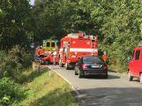 Silnici na Hluboš uzavřela vážná nehoda