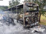 U Mokrska na Příbramsku hořel autobus, nikdo nebyl zraněn