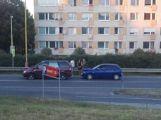 V Žežické ulici se srazily dva vozy