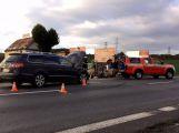 U Chraštic se srazily dva vozy, nikdo nebyl zraněn