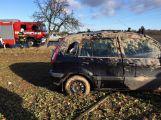 Na náledí u Hájů havarovaly 3 vozy
