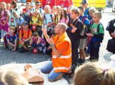 Děti se s Kryštůfkem naučily zásady první pomoci