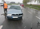 Nad Milínem se srazila dvě auta