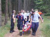 Zraněného cyklistu hledali v Brdech záchranáři