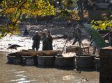 OBRAZEM: Výlov Sadoňského rybníku sledovaly stovky lidí