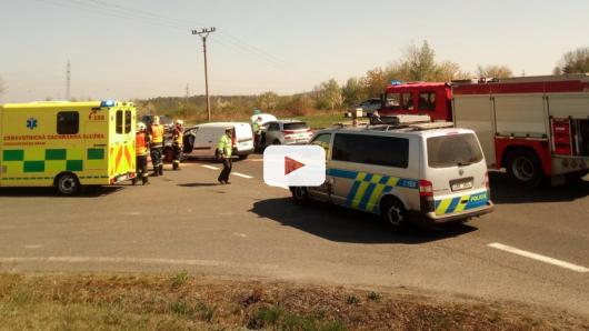 Výjezd z Příbrami komplikuje srážka vozidel na Evropské