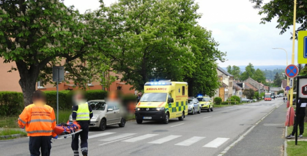 Pro vážně zraněného cyklistu přiletěl vrtulník